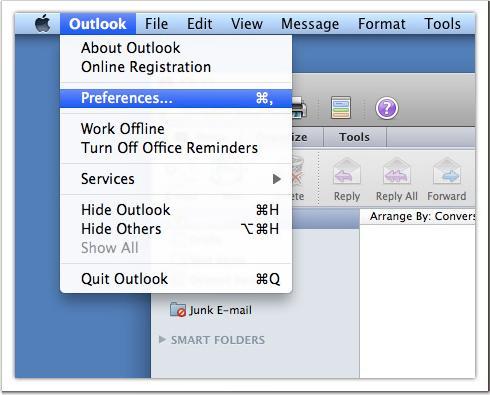 Как в майкрософт офис аутлук 2007 настроить видимость исходящих писем